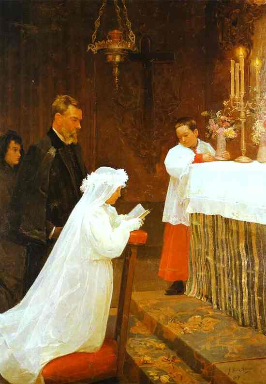 Pablo Picasso - First Communion, tablou pictat la 14 ani.