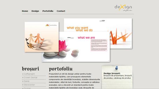 Dexign site   www.dexign.ro