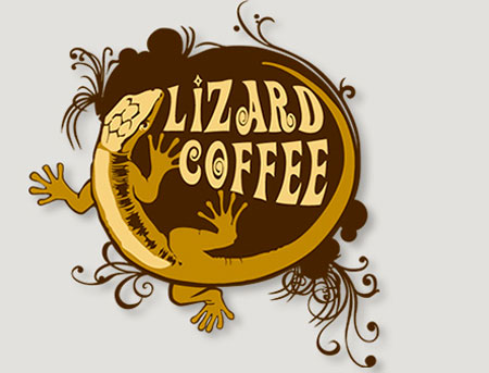 DEXIGN. Logo Lizard Coffee