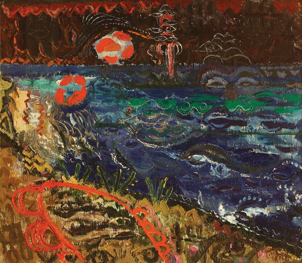 Marina cu flori oranj