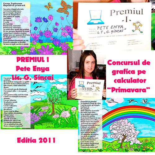 ENYA PETE:Premiul I la concursul de GRAFICĂ & GAME DESIGN