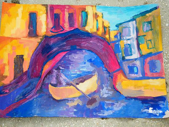 Enya Pete:  Venezia, pictură unicat în tempera