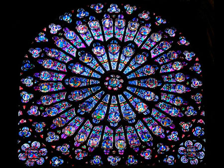 Rozasa gotică, Notre dame, Paris