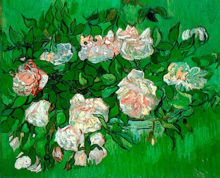 Vincent-van-Gogh-still-life-pink-roses