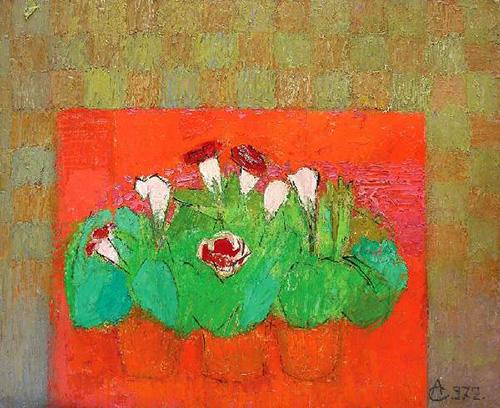 Alexandru Ciucurencu, Natura statica cu flori,1972