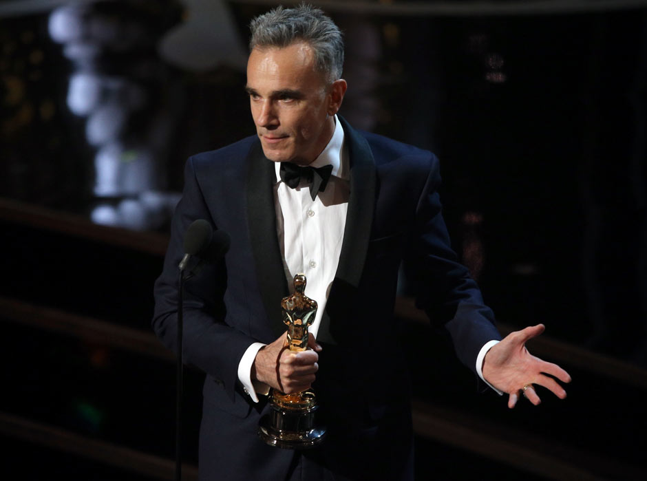 Daniel Day-Lewis wins his third Oscar for best actor