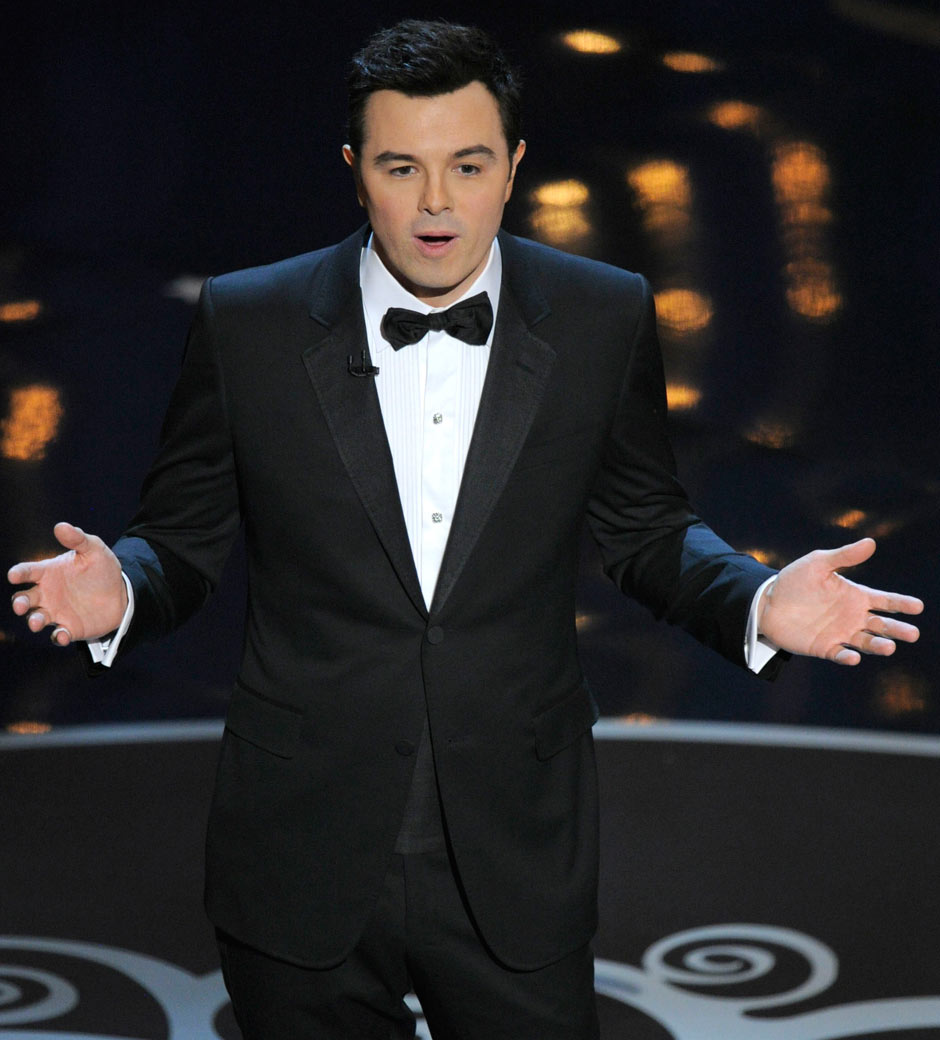 Seth MacFarlane hosting the 85th Oscars