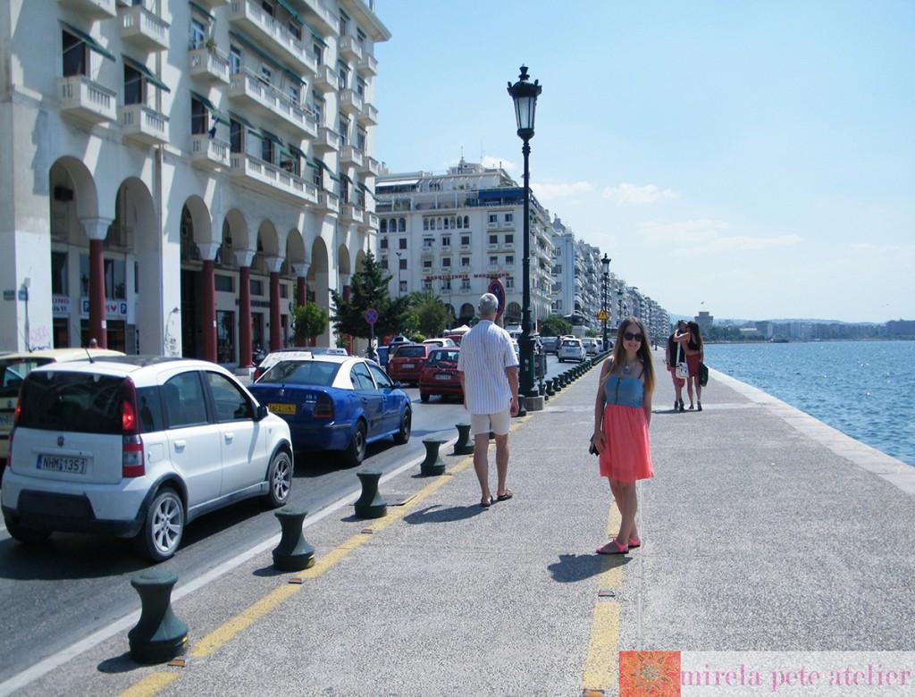 Promenada, către Turmul Alb din Salonic, Thessaloniki, august 2013