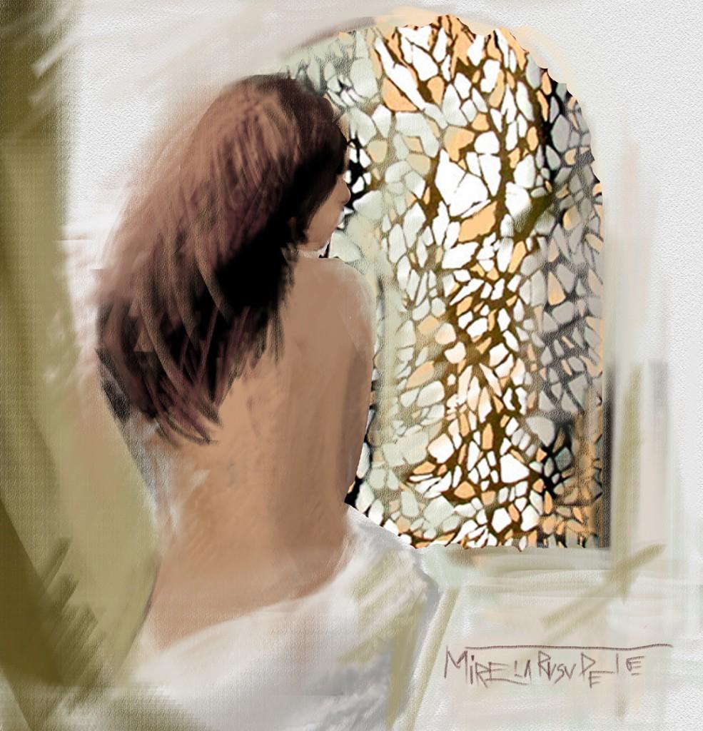 As seen autumn in a window