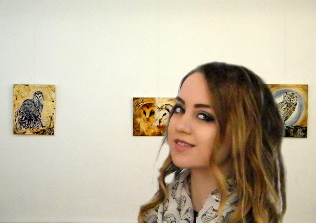Expozitia Strigisforme solitare, artist Enya Pete 14.10.2014 vernisaj