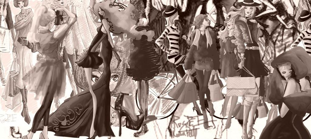 moda ilustratie