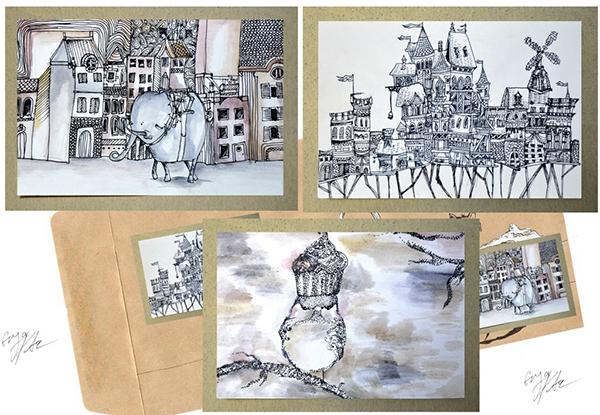 Enya Pete, Premiul I la concursul internațional de creație grafică Mail Art