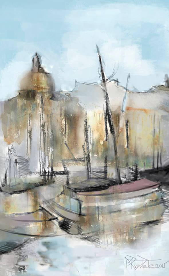 Venezia, acuarela de Mirela Rusu Pete