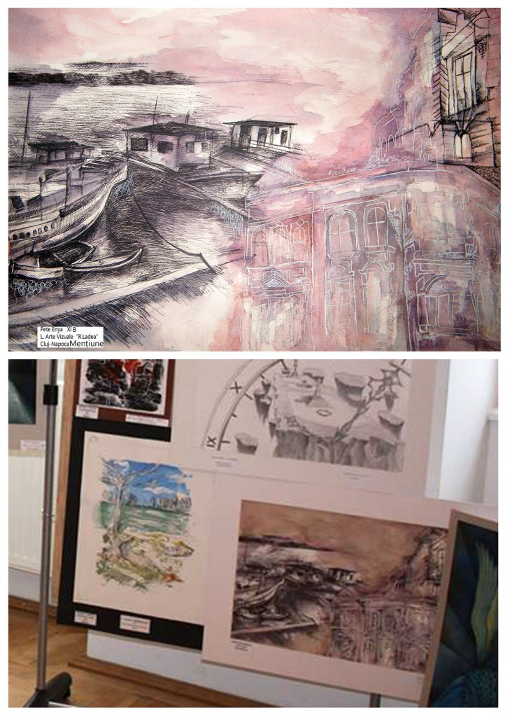 """""""Brăila"""", grafică de Enya Pete,  XI B, Lic. Arte Vizuale R. Ladea. Cluj-Napoca, premiată la concursul Gh Naum 2015"""