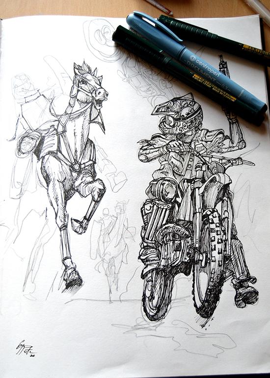 Enya Pete, lucrări originale de grafică, 2016