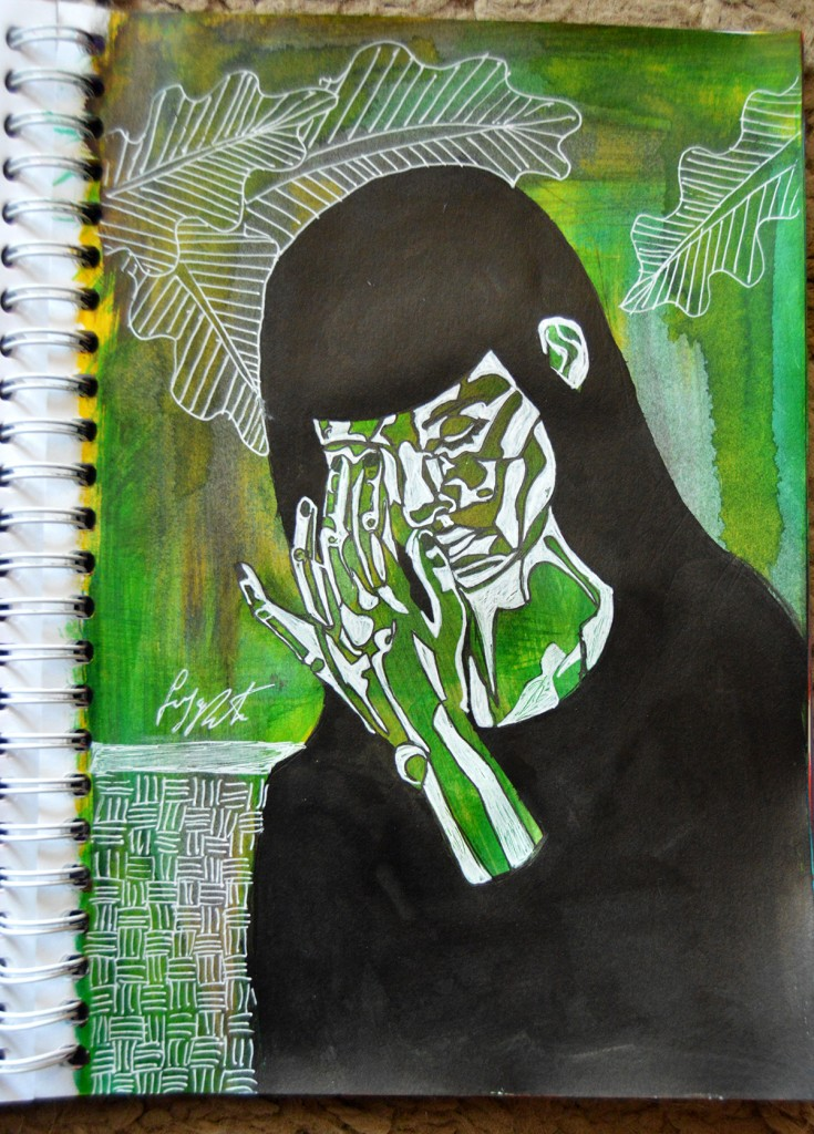Enya Pete, lucrare originala de grafica, 2016