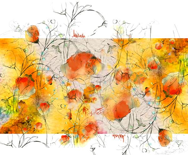 maci oranj ilustrație de Mirela Pete