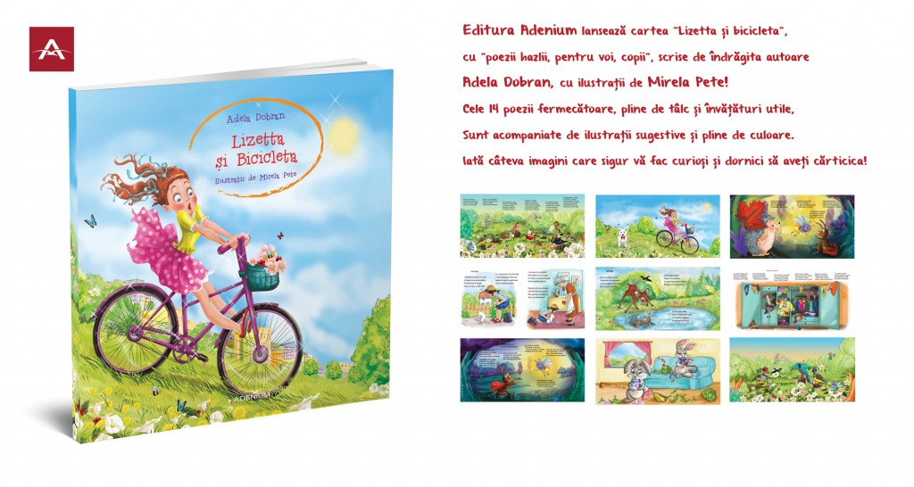 Lizetta și bicicleta, ilustrații de Mirela Pete, editura Adenium