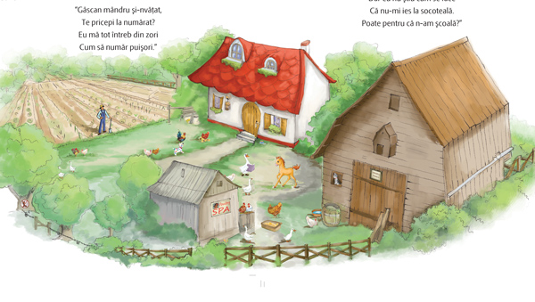 Pupo învață să numere. Ilustrație de Mirela Pete