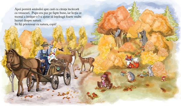 Pupo învață să protejeze natura. Ilustrație de Mirela Pete