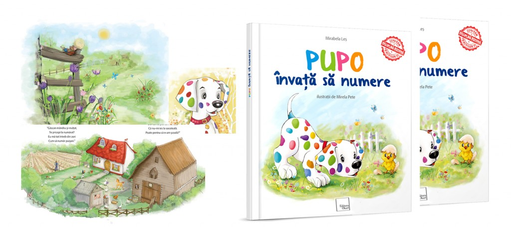 Pupo. Ilustrații de artista Mirela Pete (scris de dexign)